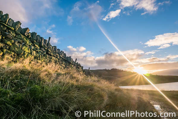 Sunburst Over Piethorne Reservoir