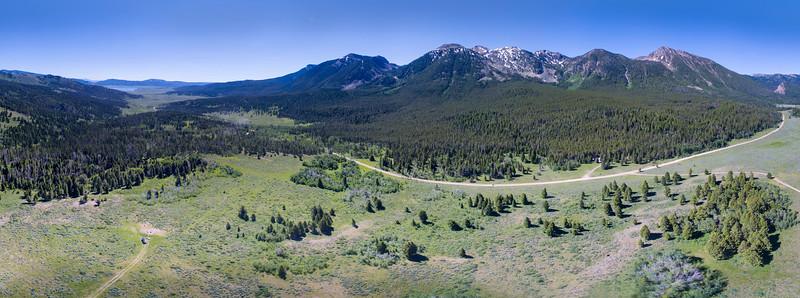 Centennial Mountains at Continental Divide (Idaho/Montana)