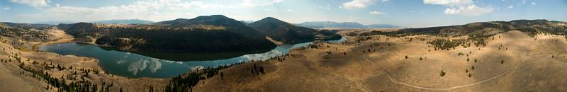 Elk Lake From 400 Feet, Montana