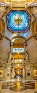 Indiana State Capitol Rotunda Panorama