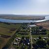 Aerial of Delta Shores RV Park and Marina