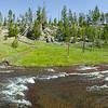 Chocolate Geyser Panorama, Yellowstone, Gibbon River