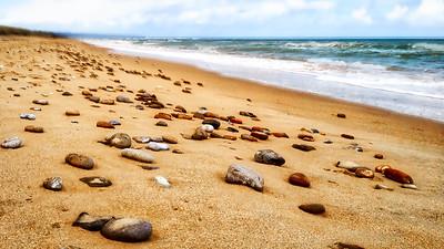 Stones on Omaha Beach