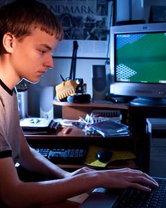 Nathan, hard at work.