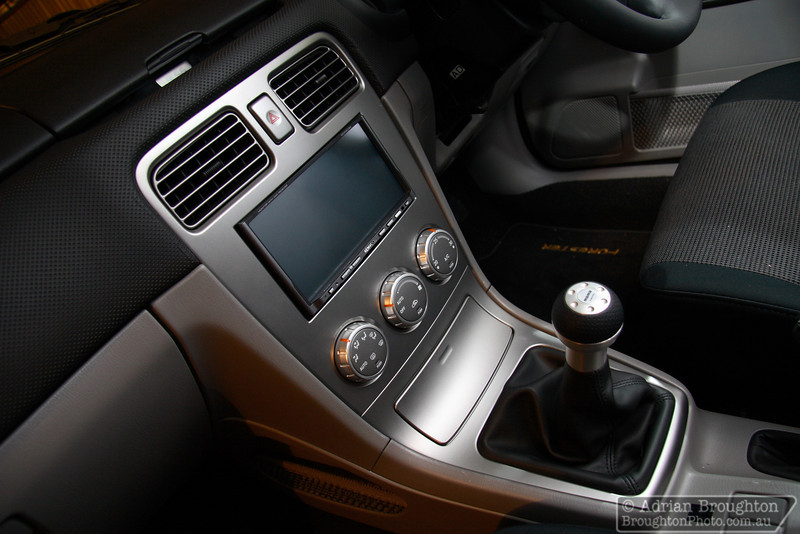 """I just finished installing a Kenwood DDX-6039 7"""" monitor with DVD/navigation/reverse-camera (and Pac-SWIX steering wheel control interface) into my Forester.... And a Momo gear knob! ;)"""