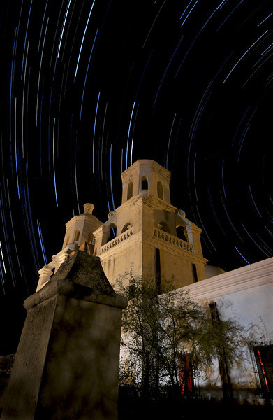 """San Javier del Bac Mission the """"White Dove of the Desert"""" outside Tucson.  The Mission was completed in 1797."""
