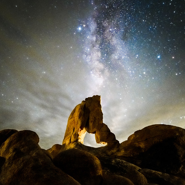 Milky Way in the Clouds