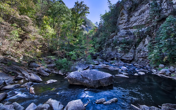 River at the bottom of Tallulah Gorge