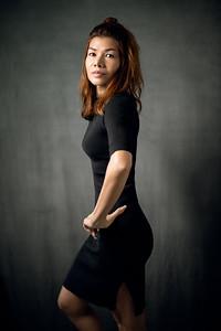 Tae Black Dress Studio Shoot