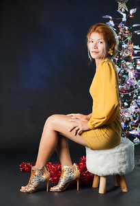 Little Yellow Dress - Xmas theme