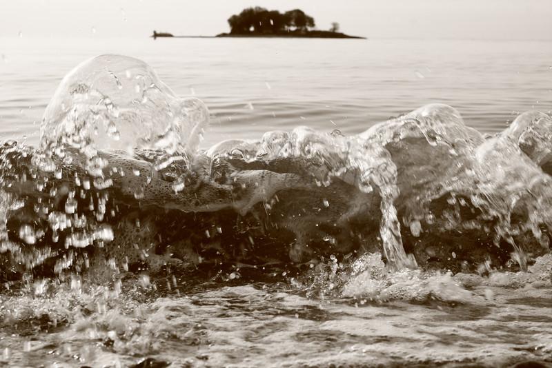 Wave and Island