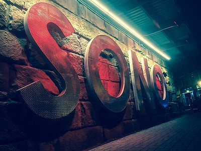 SONO Sign at Night