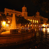 Night View of the Illuminated City Hall on the Plaza De Armas, Old San Juan; Puerto Rico