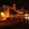 Night View of the Illuminated City Hall on the Plaza De Armas, Old San Juan; Puerto Rico