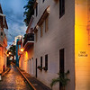 Old San Juan Street Night View, Caleta del Monjas, Puerto Rico