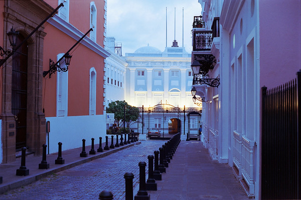 La Fortaleza at Night, San Juan, Puerto Rico