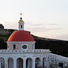 Circular Chapel with Fort El Morro in the Background, Old San Juan, Puerto Rico