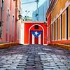 Cobblestone Street in Old San Juan, Puerto Rico