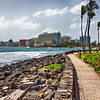 Walking Path Along the Shore in San Juan, Puerto Rico