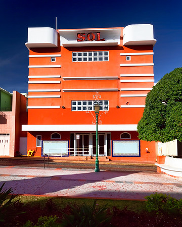 Low Angle View of the Theatre Sol, San German, Puerto Rico