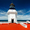 Frontal View of a Lighthouse Tower, Punta Morillos, Arecibo, Puerto Rico