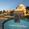 View of the  Capitol Building of Puerto Rico with a Sign in the Front, San Juan, Puerto Rico