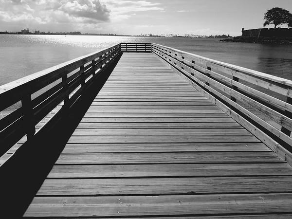 Wooden Pier in San Juan Bay, Puerto Rico