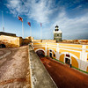 Big Sky Over the El Morro Lighthouse and Fort Courtyard