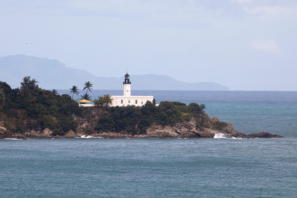 View of a Lighthouse on a Cliff, Point Tuna Lighthouse, Puerto Rico