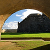 Walls of San Felipe Del Morro Viewed Through of an Arch, San Juan, Puerto Rico
