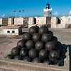 Cannonballs on a Pile in El Morro Fort, Old San Juan, Puerto Rico