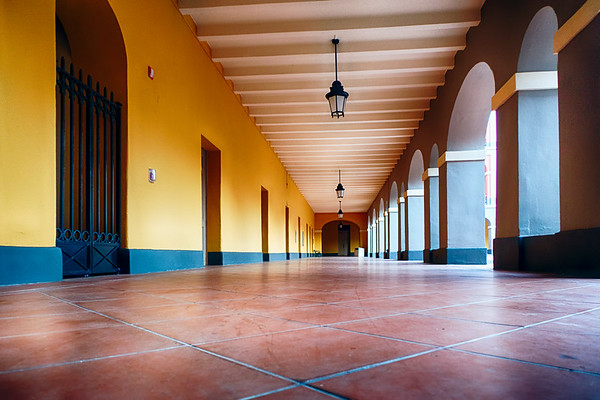 Corridor of the Historic Ballaja Barracks, Currently Museum of the Americas, San Juan, Puerto Rico