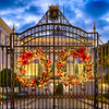Gate with Holiday Decorations, La Fortaleza, Old San Juan, Puerto Rico