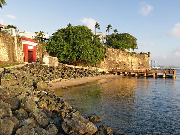 Red Gate and City Walls, Paseo Del Morro, Old San Juan, Puerto Rico