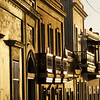 House Facades Gilded by the Setting Sun, Old San Juan, Puerto Rico