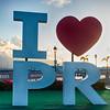 I love Puerto Rico Sign in San Juan Harbor