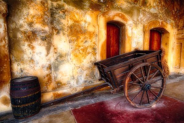 Wooden Cart and a Barrel