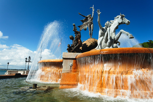 Close up View of the Raices (Roots) Fountain, San Juan, Puerto Rico