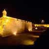 Fortress Walls and Entry Gate Illuminated at Night, San Felipe Del Morr Fort, Old San Juan, Puerto Rico