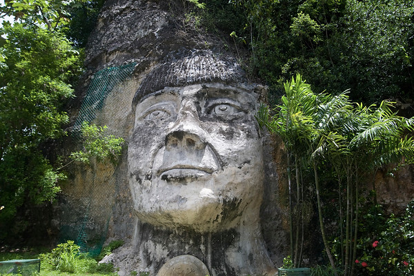 Taino Indian Head Monument near Isabela,Puerto Rico
