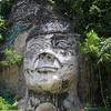 Taino Indian Head Monument near Isabela,Puerto Rico