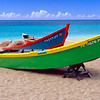 Brightly Painted Fishing Boats on a Caribbean Beach, Crash Boat Beach, Puerto Rico