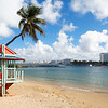 View of a Beach with a Lifeguard Station, Park of The New Millenium, San Juan Puerto Rico