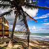 Arroyo Beach Scenic witha a Lifeguard Hut, Puerto Rico