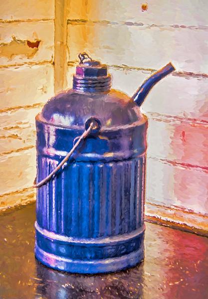 Antique Railroad Kerosene Can