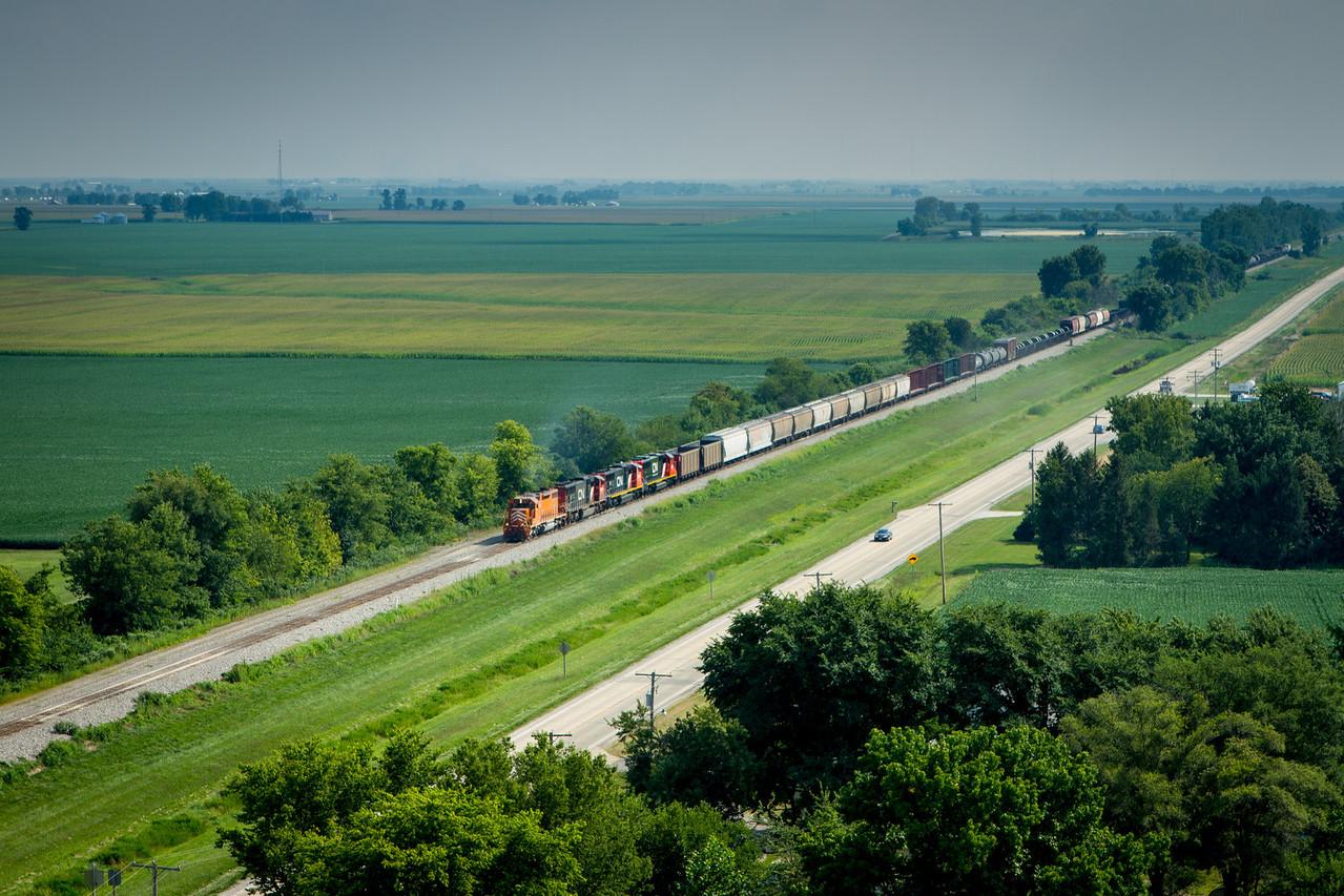 Train on the Modern Prairie