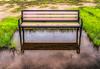 Empty Bench In Flood Zone