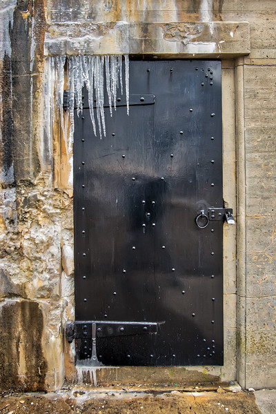 Icicles and Textures At he Bunker Door