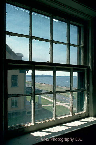 """View from inside house on """"Officers' Row"""" at Sandy Hook, New Jersey"""