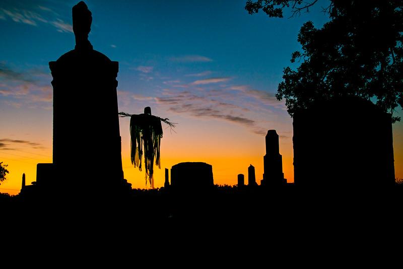 Skelton Scarecrow at Cementery
